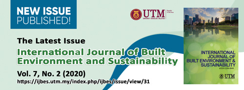 International Journal of Built Environment and Sustainability Volume 7, Issue 2, 2020